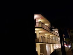 Exterior property at night