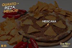 Dica de hoje: MEXICANA 😍🇲🇽 🍕 Contém: molho de tomate, mussarela, carne moída levemente apimentada e Doritos.🍴