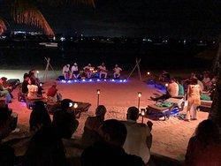 Super soirée sur la plage !!