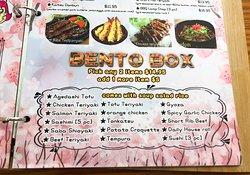 Bento Box menu