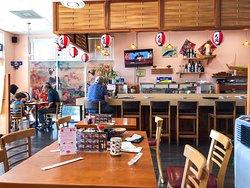 View of sushi bar