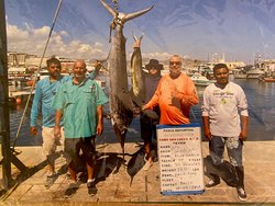 120 lb Blue Fin Marlin, one of the two we caught while fishing with Paulo along with at least a 20 lb Dorado we caught that day.