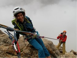 Multipitch rock climbing guide tour in Mendoza, one of the best classics routes in Arenales
