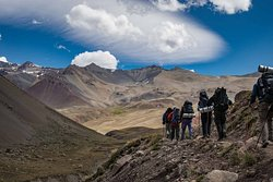 During the trek across the Andes Mendoza - Chile