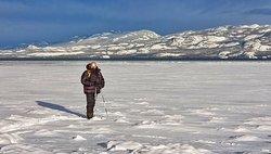 Snowshoeing near Lake Laberge