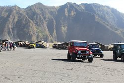 Explore Bromo Crater by jeep starting early morning to see an amazing sunrise at Penanjakan summit Hill
