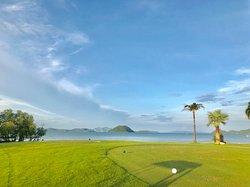 Golf course beach side