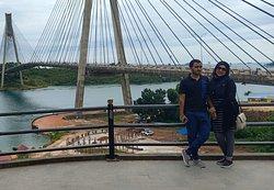 Couple trip Batam driver  At barelang bridge Batam  # friendly Batam driver  # Batam private driver # knowledge about batam
