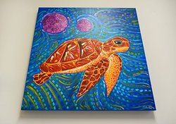 Sea turtle painting for sale