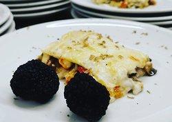 Lasagna ai sapori dell'orto con tartufo nero di Calabria!