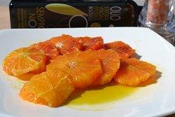 Arancio e olio extravergine di oliva biologico