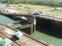Panama Canal lock gates.