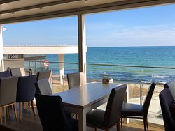view from the Godzila beach location near the Sea Garden