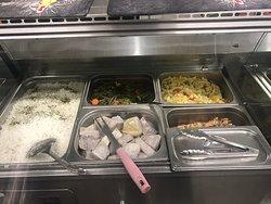 Black food's  Menu du jour 09/10/19   Grillades :  - Poulet 7,50€ - Ribbs 9€ - Brochette de bœuf 11€  - Brochette d'agneau 10€  - Brochette de rognon 7,50€ - Ailes de poulet 9,50€ - Cailles 9,50€  - Lambi 18€  - Saumon 15€  - Vivaneau 13€  - Entrecôte 17€ - Cote de bœuf 22€ Accompagnements : - Daube de poisson 12€ - Cury Poulet 10€ - Riz, Haricot-Rouge  - Légumes vapeurs  - Riz djondjon  - Banane Fris  - Dachine