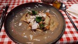 homemade pasta with Mushroom+Kaviar