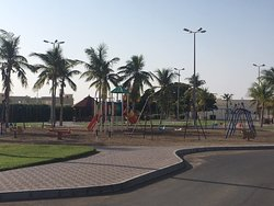 Playground next to parking area behind te Cornish restaurant