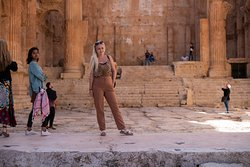 A fellow traveler from the Czech Republic in the Baalbek ruins