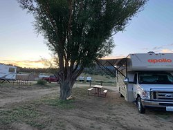 RV site close to the entrance