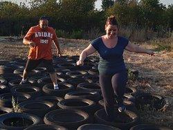Le saut de pneus