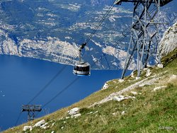 Monte Baldo going up on the Cable car