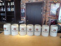 jugs for Paulaner beer