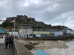 Mount Orgueil Castle and Gorey Village