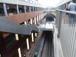 Looking down the escalator