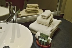 Enjoy our complimentary amenities and plush towels!