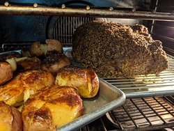 Prime Rib of Beef with Smashed Potato