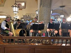 The band  at the Hofbrauhaus