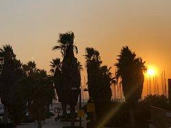 Dusk at the beach In Tel Aviv
