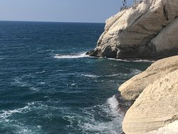 The Mediterranean along the Rosh Hanikra Grottoes