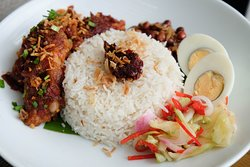 Nasi Lemak with Chicken Sambal. A Friday and Saturday special!