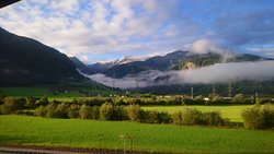 Early morning in September, view from our room towards Stubacher valley