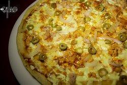 Pizza de aceitunas al mejor estilo italiano