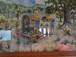 Changu Museum - Local History of Changu Narayan  Sudarshan and gwala construct a small temple of Changu Narayan and worship The Lord .