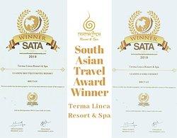 "SATA Awards Winner in ""Leading Boutique Resort"" and ""Leading Family Resort"""