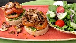 Vegan/vegetarian Avocado crumpets
