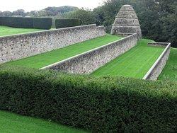 terraced gardens...