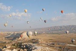 Vista dos balões