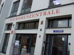 Die Tourist Information, in Stralsund....