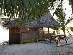 One of the rooms/lodges at the Abemama Green-Eco Hotel Kiribati