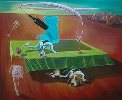 Influence écrasante surréalisme de Mourad Fouad Overwhelming influence surrealsim, Iluusion, surrealsit , Canada, Quebec, Montreal, Egypt