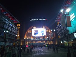 Outside American Airlines Center