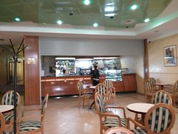 Coffee bar Hotel Yubileiny Minsk, where we had excdellent strong coffee  - a great start to an adventurous day of sight seeing!