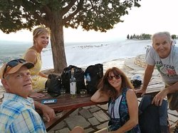 Pamukkale, With guests from USA