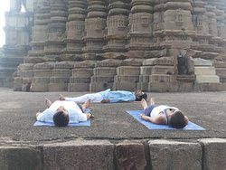 Shavasana with a couple during yog session