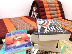 Lay down with your favorite book and enjoy your time
