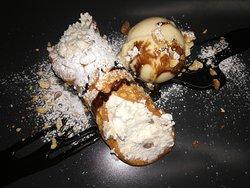 Traditional Maltese kannol and maltese ice cream