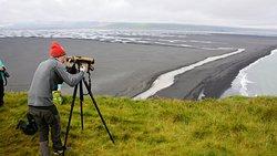 le guide apporte une longue vue pour faciliter l'observation des oiseaux